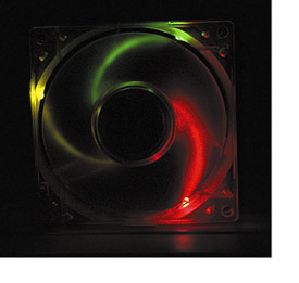 Rainbow LED Lighted Ball Bearing Case Fan