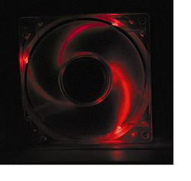 Red LED Lighted Ball Bearing Case Fan
