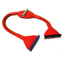 """24"""" ATA 66/100/133 Red Round IDE Cable"""