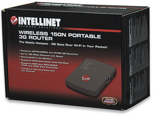 Wireless 150N 3G Portable Router with Integrated USB 2.0 port, Intellinet 524803