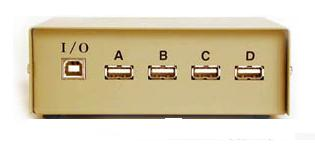 USB Switch Box ABCD 1 Type B, 4 Type A Ports