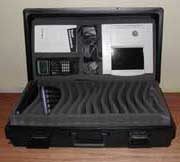 Hard Case for 16 Keyboards and 1 Viewscreen Set, Book, and TI-80 Series in Cradle Image