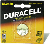Duracell 2430 Coin Cell Battery Image