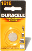Duracell 1616 Coin Cell Battery Image