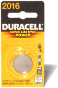 Duracell 2016 Coin Cell Battery Image