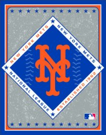 MLB New York Mets Double Play Collection Bath and Beach Towel