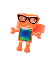 Orange Robot Ring - Kids Fashion Jewelery