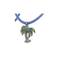 Blue Palm Tree Necklace - Girls Fashion Necklace