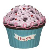 Cupcake Bouquet Vases (I Love You) - Ganz Cupcake Flower Arrangement