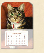 Small Magnetic Lewis 2010 Calendar by CatmanDrew™ Drew Strouble produced by Pine Ridge Art.