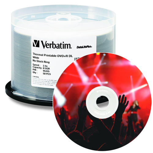 photo about Verbatim Printable Dvd R referred to as Invest in Verbatim DVD+R Twin Layer 8.5 GB 2.4X(up toward 6x) White