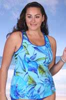 "1608-38 ""Palm"" Princess Seam Tankini Top"
