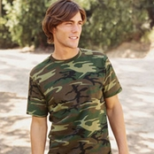 Code V 100% Cotton Camouflage T-Shirt