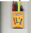 Mini Box Of 4 Non Toxic Crayons