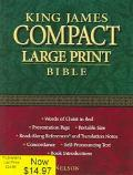 KJV Compact Large Print Bible Black Bonded Leather