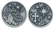 SILENT NIGHT HOLY NIGHT PEWTER POCKET TOKEN