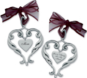 Pewter Heart Ornament Mom Your Always In My Heart Gift Boxed