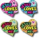Jesus Loves Me! Dazzle Stickers (Pkg-120)