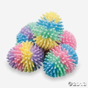 Vinyl Multicolor Egg-Shaped Porcupine Balls