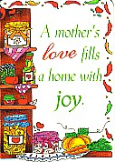 'A MOTHER'S LOVE' INSPIRATIONAL FRIENDSHIP/PRAYER CARD