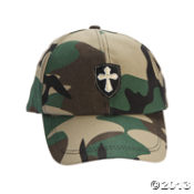 Cotton Camouflage Cross Baseball Cap