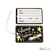 ( 1 doz. ) shoot for the stars luggage tags