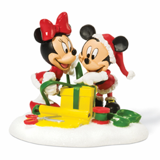 "Department 56 Disney Village  - ""Mickey & Minnie Wrapping Gifts"""