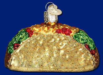 "Old World Christmas Glass Ornament  - ""Taco"""