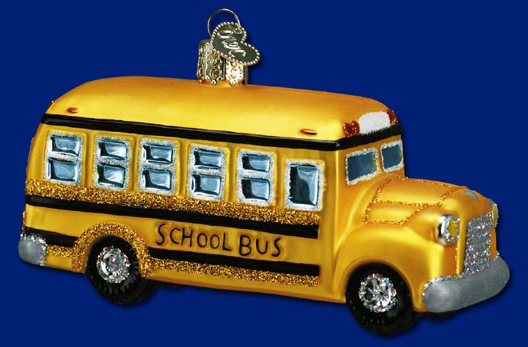 Old World Christmas Glass Ornament - School Bus