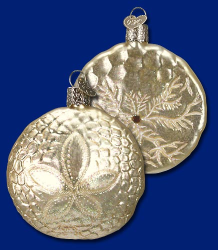 Old World Christmas Glass Ornament - Sand Dollar