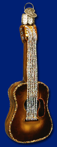 Old World Christmas Glass Ornament - Guitar