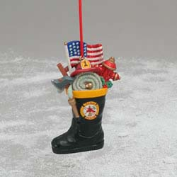 Christmas Ornament - Fireman Boot