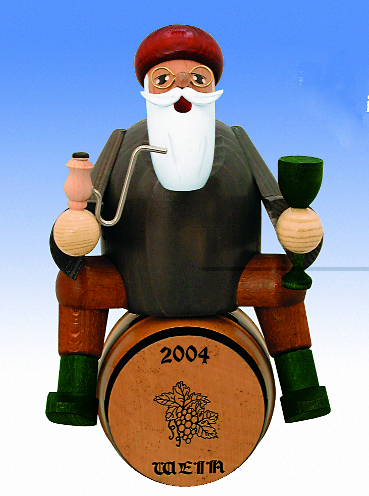 KWO Authentic German Smoker Man - Wine Dealer on Barrel Smoker Man
