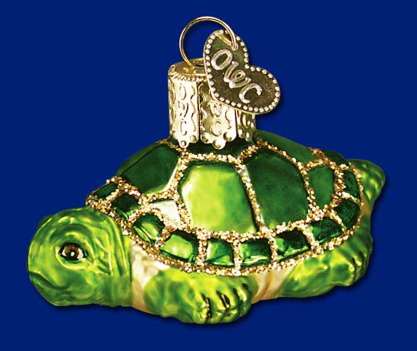 Old World Christmas Glass Ornament - Small Turtle