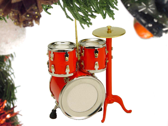 Music Instrument Ornament - Drum Trap Set