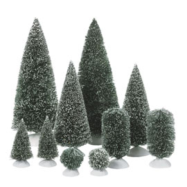 Department 56 Village Accessory - Bag-O-Frosted Topiaries - Small