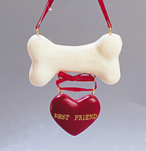 "Christmas Ornament  - ""Dog Bone/Best Friend Ornament"""