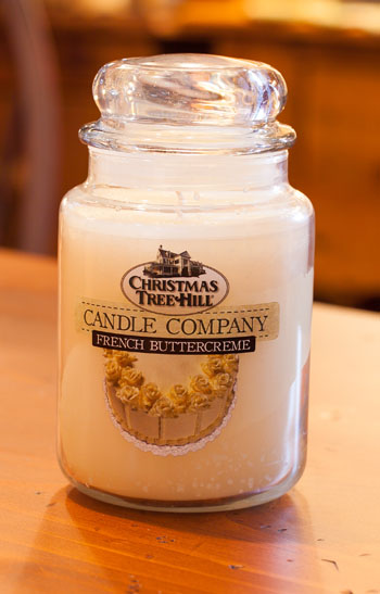 """Christmas Tree Hill Fragranced Candle - 22 oz. Jar - """"French Buttercreme"""""""