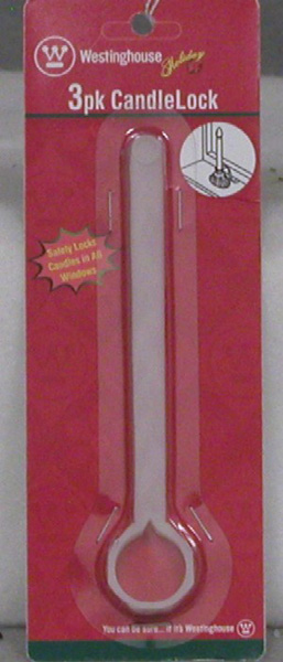 "Candle Locks - ""Window Candle Locks"" - Pack of 3"