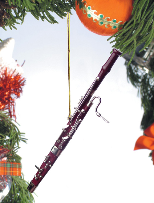 Music Instrument Ornament - Bassoon Ornament