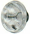 """Hella H4 Headlamp Replacement w/ HD 60/55  Bulb - 5 ¾"""" Round"""