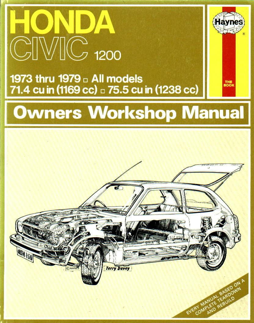 Haynes Manual for Honda Civic. Honda Civic 1200 - Haynes Repair Manual