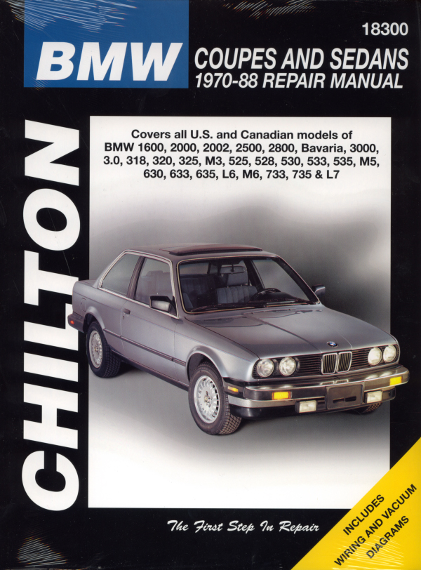 chilton's manual for bmw includes wiring & vacuum diagrams!