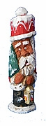 African American Santa Claus with Lantern - Sold