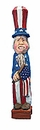 Caricature Patriotic Uncle Sam Woodcarving
