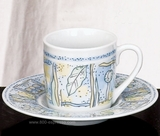 Espresso Cups  and Saucers Sunset, set of 6