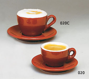 Italian Cafe Style Set Of Espresso Cuccino Cups And Saucers