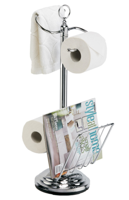 Toilet Paper Stand With Magazine Holder