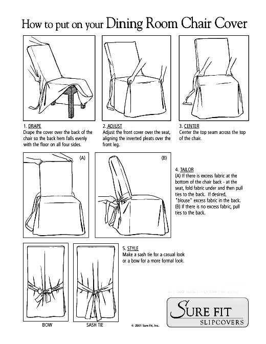 How to Put on Dining Room Chair Covers
