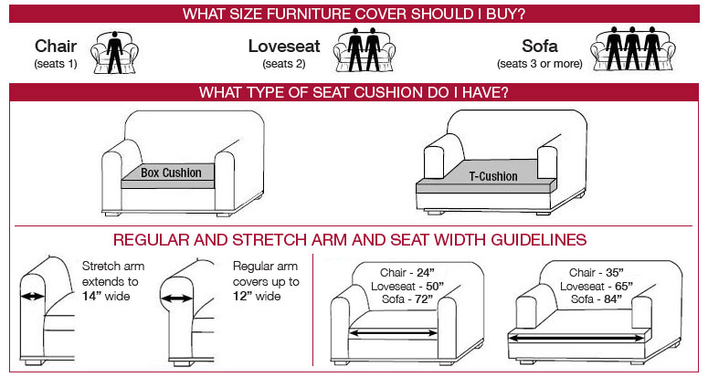 Ready Made Surefit Slipcover Measurement Chart